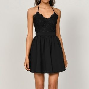 Tobi Mila Skater Dress in Black